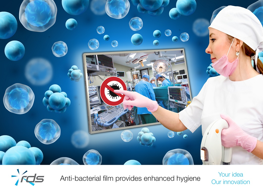 RDS offer anti-bacterial film for touchscreen-based display systems article image